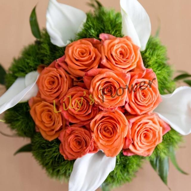 Buchet nasa mireasa trandafiri cale