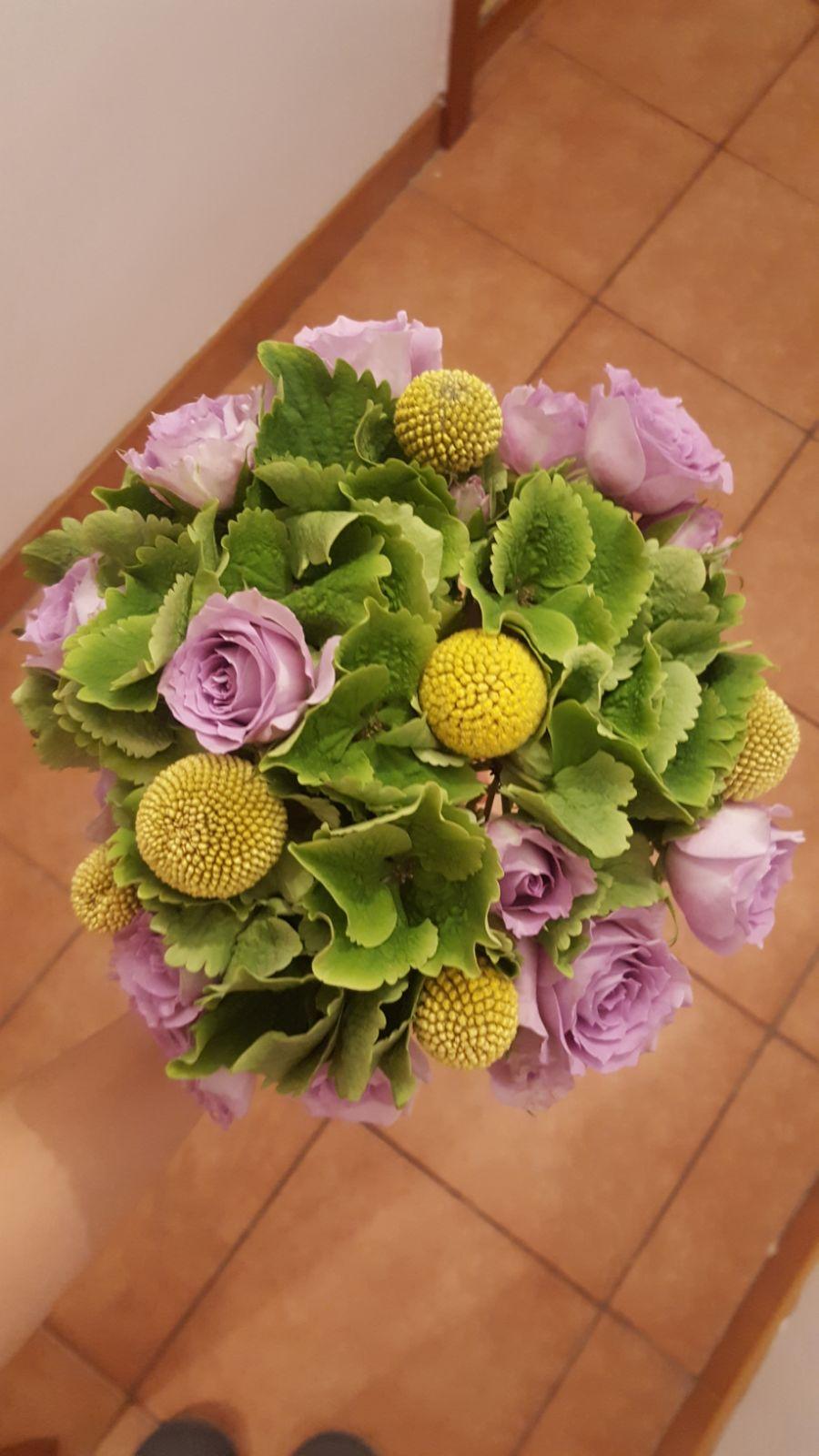 Buchet cununie mireasa nasa hortensie verde